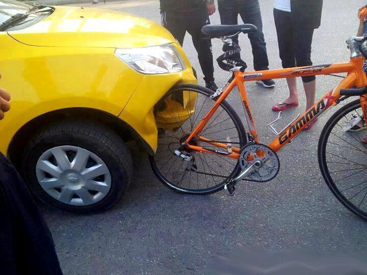 Chinese car vs. German bicycle