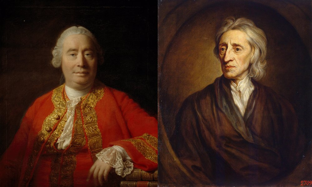 David Hume and John Locke