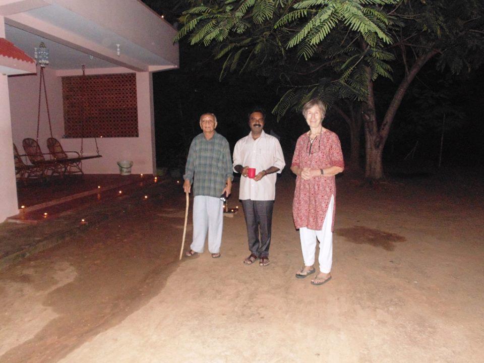 Shashi and Renate Desai with Mohamed Sheik Ibrahim