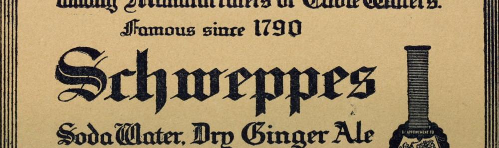 Old Schweppes bottle