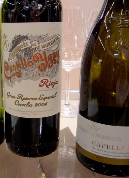 Marqués de Murrieta, Capellanía Rioja Blanco Reserva 2006 (right) and Castillo Ygay, Rioja Gran Reserva Especial 2004 (left)