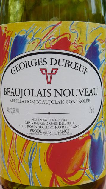 Georges Dubœuf, Beaujolais Nouveau 2011