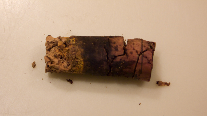 The cork from this bottle of 1988 Château Musar