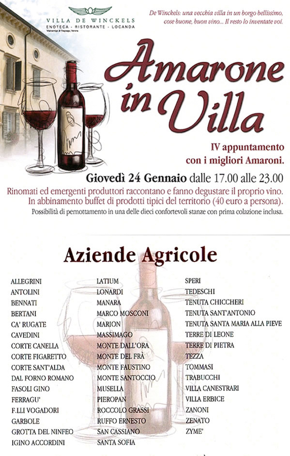 Amarone in Villa Invitation