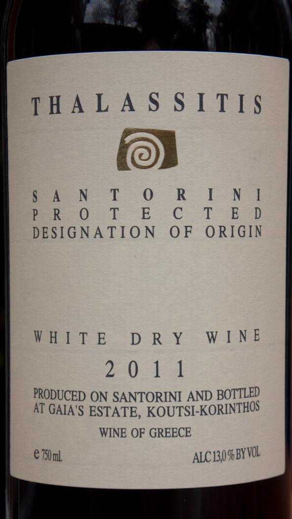 Gaia Wines, Thalassitis 2011