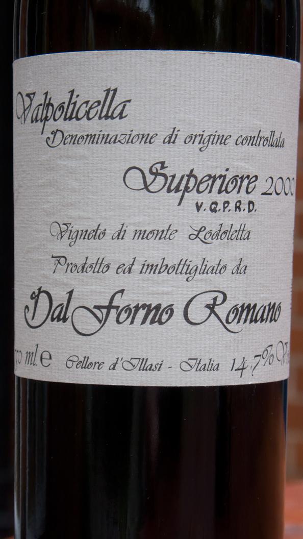 Romano dal Forno, Valpolicella Superiore 2000