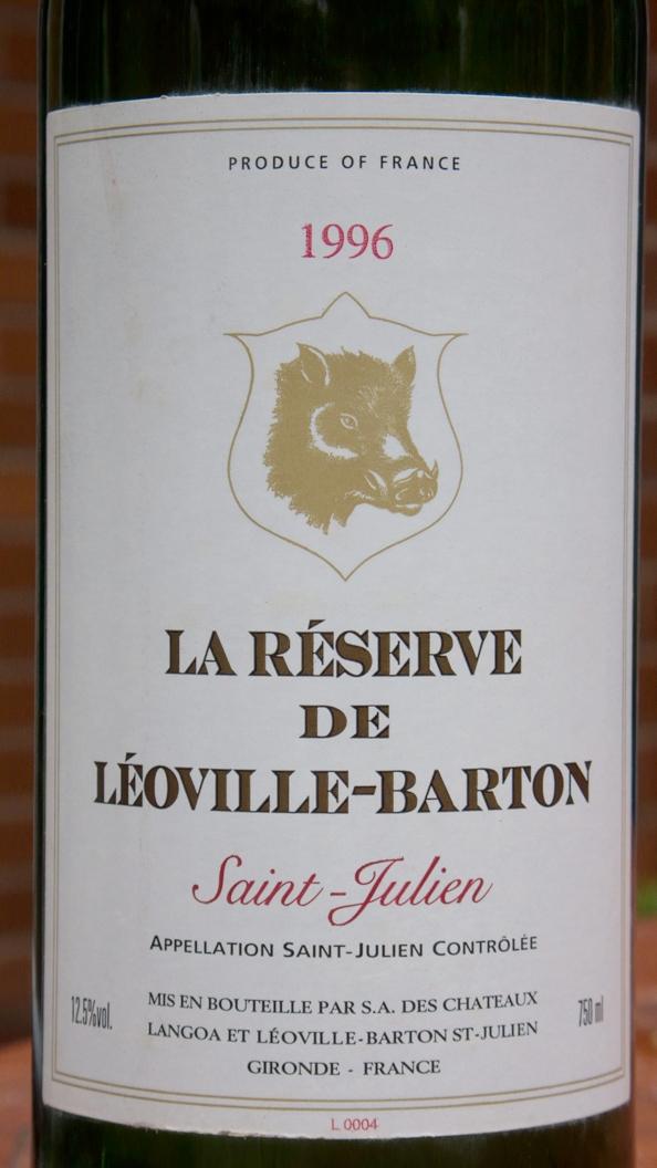 La Réserve de Léoville-Barton, Saint-Julien 1996