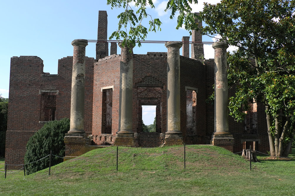 Barboursville, the ruined Jefferson-designed house