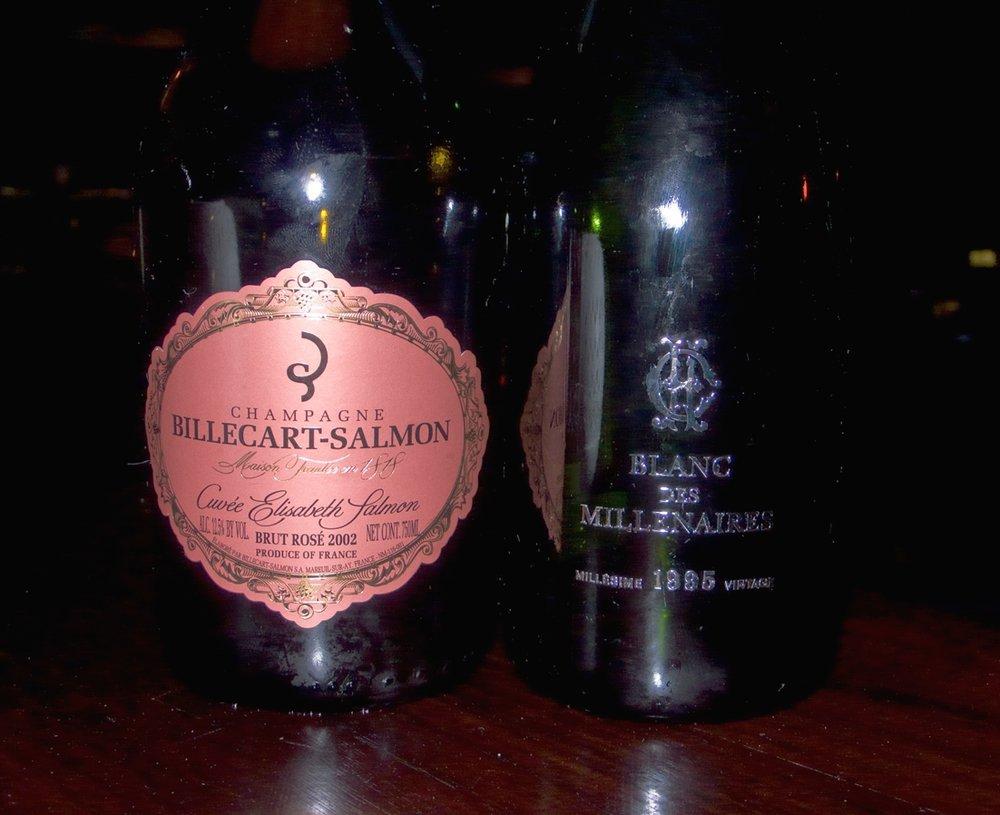 Billecart-Salmon, Cuvée Elisabeth Salmon Rosé 2002 and Charles Heidsieck, Blanc des Millenaires 1995