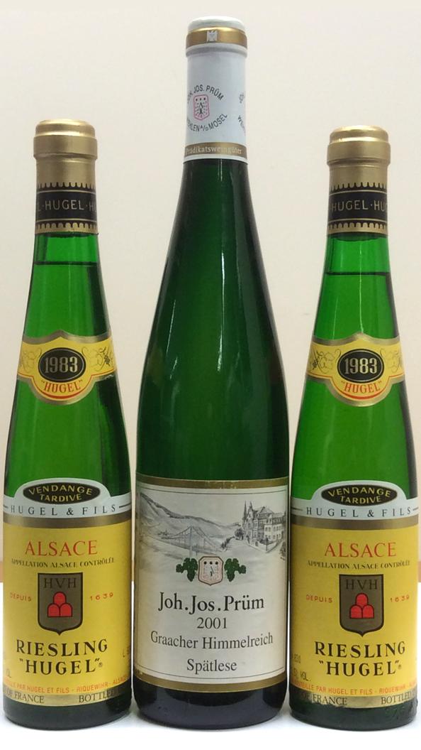 Hugel & Fils, Riesling Hugel Vendange Tardive 1983 and Joh. Jos. Prüm, Graacher Himmelreich Riesling Spätlese 2001