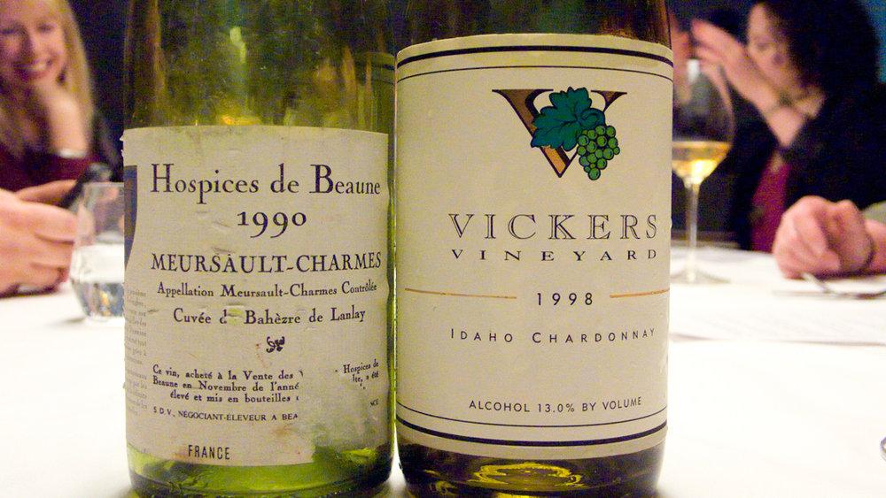 Hospices de Beaune, Meursault-Charmes Cuvée de Bahèzre de Lanlay 1990 and Vickers Vineyard, Chardonnay 1998