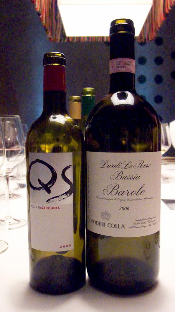 Quinta Sardonia 2009 and Poderi Colla, Barolo Bussia Dardi Le Rose 2006