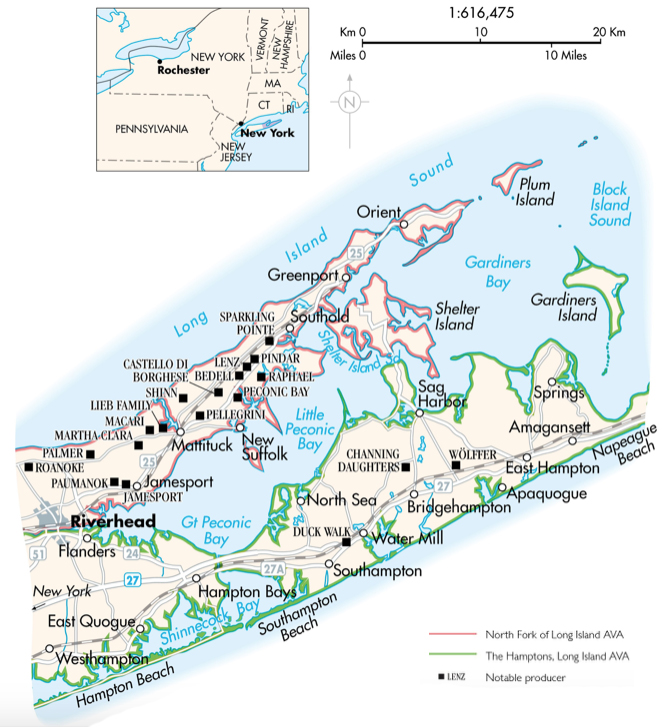 Map of the Long Island AVA
