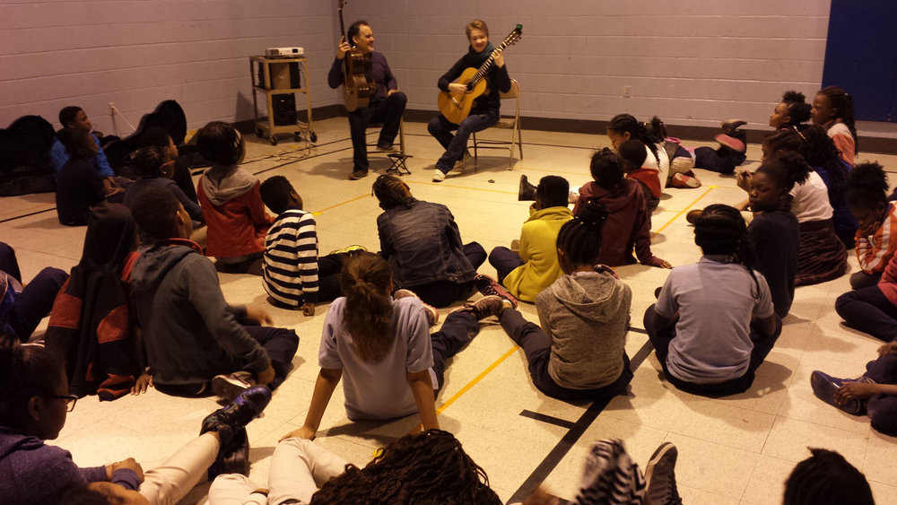 In School Residencies - SLCG brings artists from all over the world to perform concerts right here in St. Louis. These artists also visit schools to perform for and engage with young students providing a model of success and inspiration.
