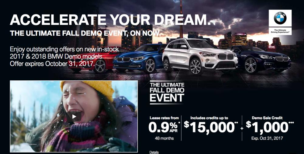 BMW Canada headline/sub-head copy