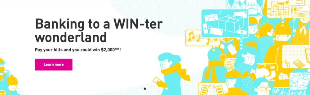 EQ Bank contest headline/sub-head copy