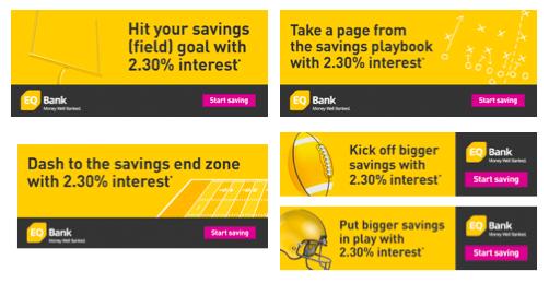 EQ Bank NFL banner ads