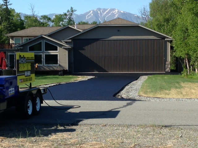 A High-Quality & Professional Asphalt Company  - Alaska Sealcoating  is an Alaskan owned and operated high-quality asphalt service company proudly serving our residential customers from Anchorage to Wasilla, Palmer, and all other Matsu Valley communities as far as Fairbanks and the cities of Kenai, Soldotna, Homer and Seward on the Kenai Peninsula.We deliver only superior results to all our customers and apply the same high-grade material to the homeowner's driveway as our industrial and commercial applications. Our customers get their money's worth with our longer-lasting professionally applied asphalt sealing material. Alaska Sealcoating is a licensed, bonded & insured professional asphalt company.