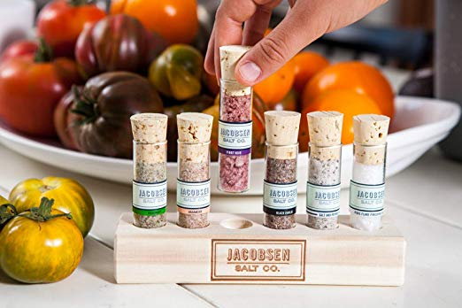 An assortment of salts, a fun idea if your mom enjoys cooking and being in the kitchen