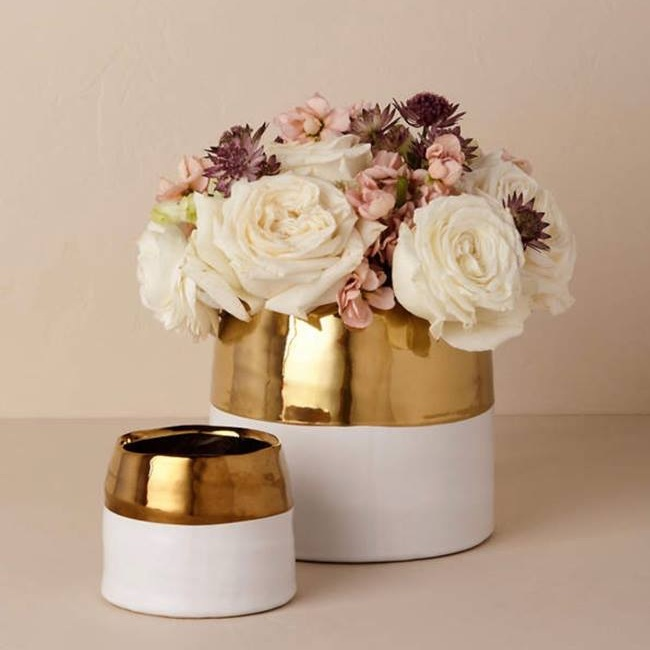 These beautiful vases from BHLDN are a timeless piece. Comes in two sizes. Give to your mother as is, or with an arrangement of beautiful flowers.