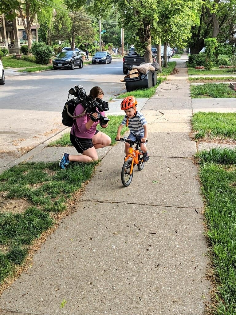 Liam riding his bike to school and getting some media attention in the process. Full story here:https://www.tonyskansascity.com/2017/12/tkc-exclusive-meet-kansas-city-power.html