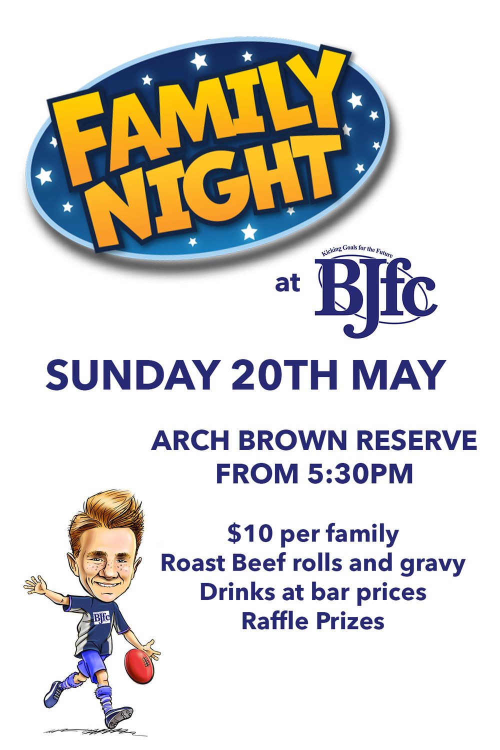 - Come and talk footy with the BJFC family next Sunday at Arch Brown Reserve!!