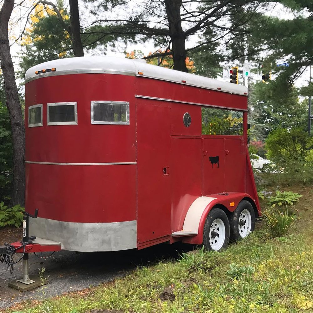 Sauna trailer, as purchased in March 2018.