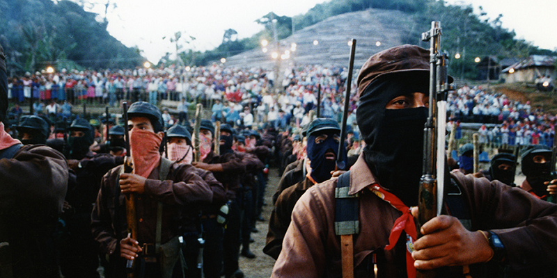 EZLN combatants in Guadalupe Tepayac, Chiapas, June 1994. Photo by Juan Popoca.