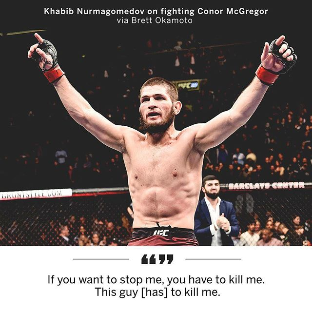 Big words from Khabib! Book your table NOW on 5444 8383