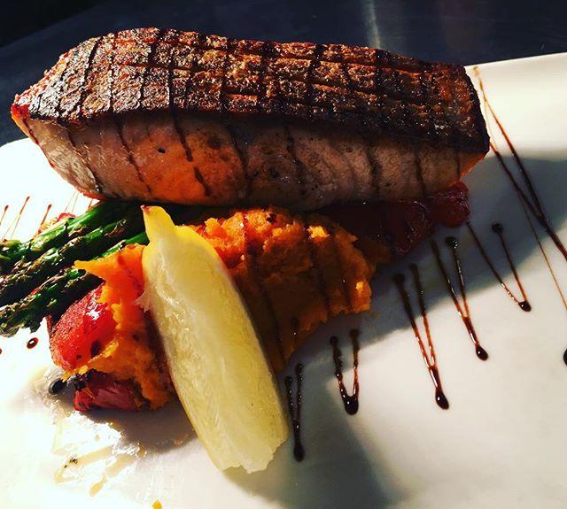 Crispy Skinned Atlantic Salmon!