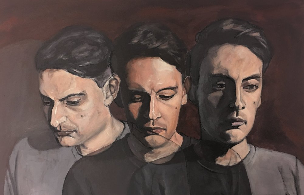 "All the Faces of Deceit 24"" x 36"""