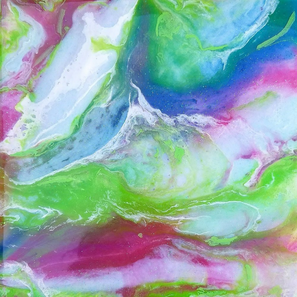 10x10 Abstract Resin Paint on Gallery Canvas