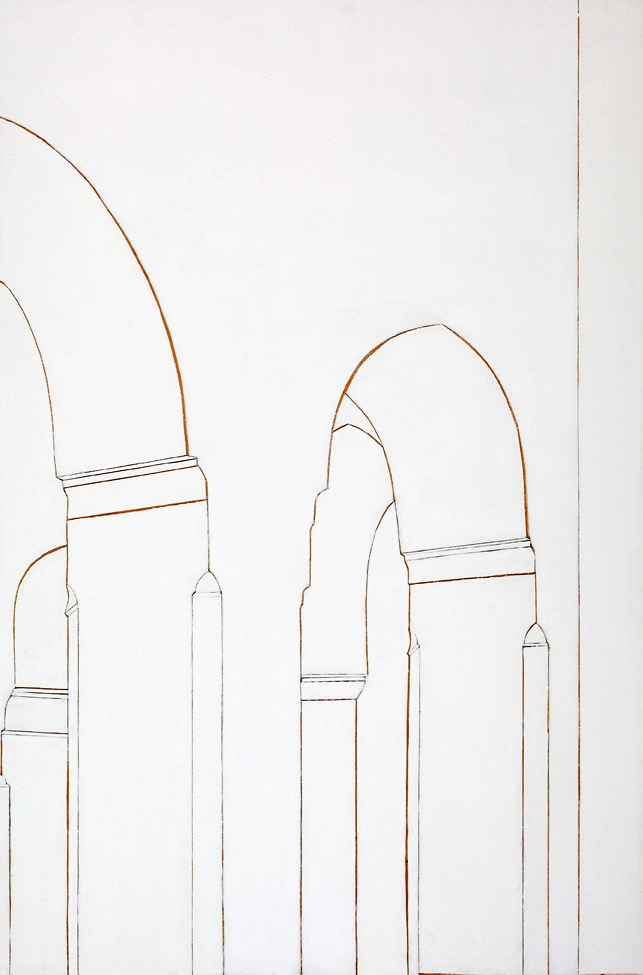 Paris Mosque #1, mixed media on board, 120 x 80cm, 2011