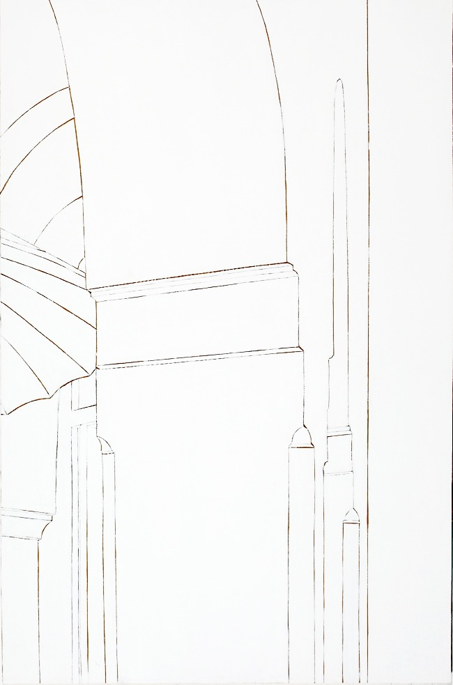 Paris Mosque #2, mixed media on board, 120 x 80cm, 2011