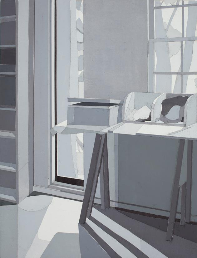 Arthur Boyd's Studio, mixed media on board, 53 x 40cm, 2016