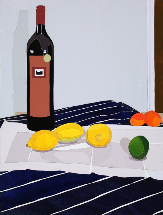 Lemons, mixed media on board, 47.5 x 36cm, 2011