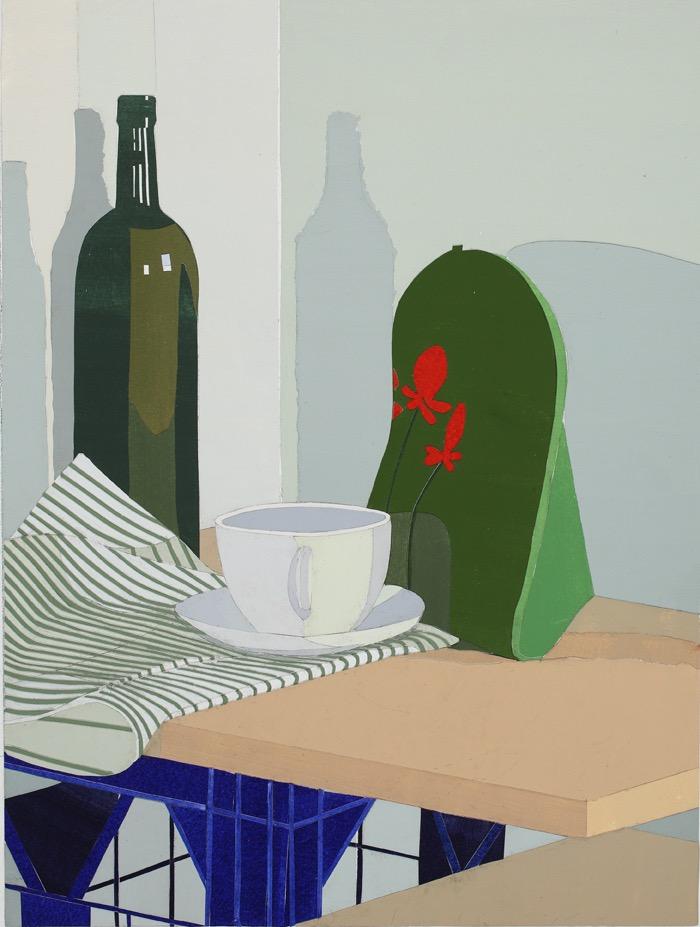 Tea Cosy, mixed media on board, 53 x 40cm, 2011