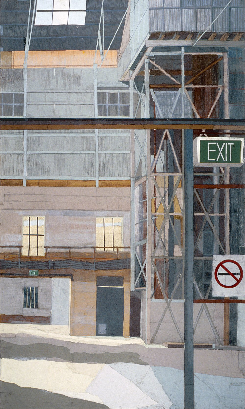 Cockatoo Island #1, mixed media on paper, 240 x 120cm, 2006