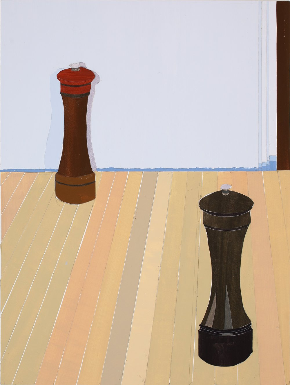 Salt and Pepper, mixed media on board, 47.5 x 36cm, 2011