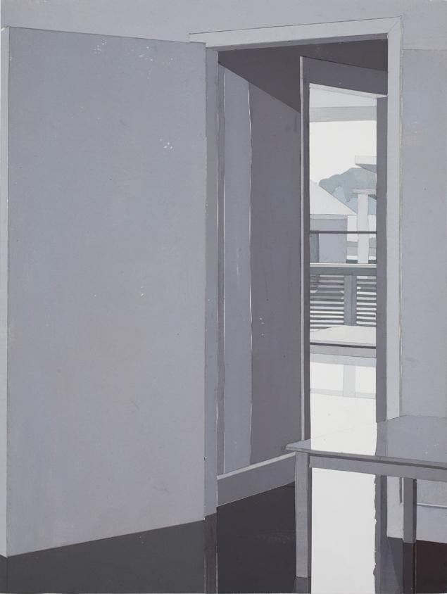 Studio Meanderings, mixed media on board, 53 x 40cm, 2016