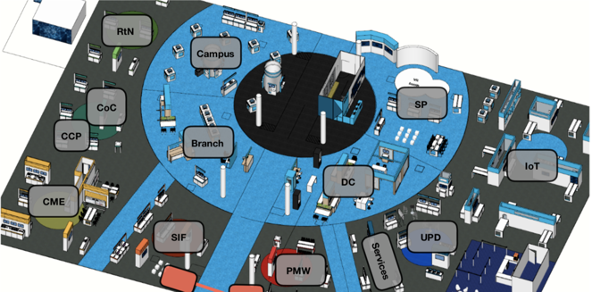 *This map only shows the Cisco Showcase demo locations