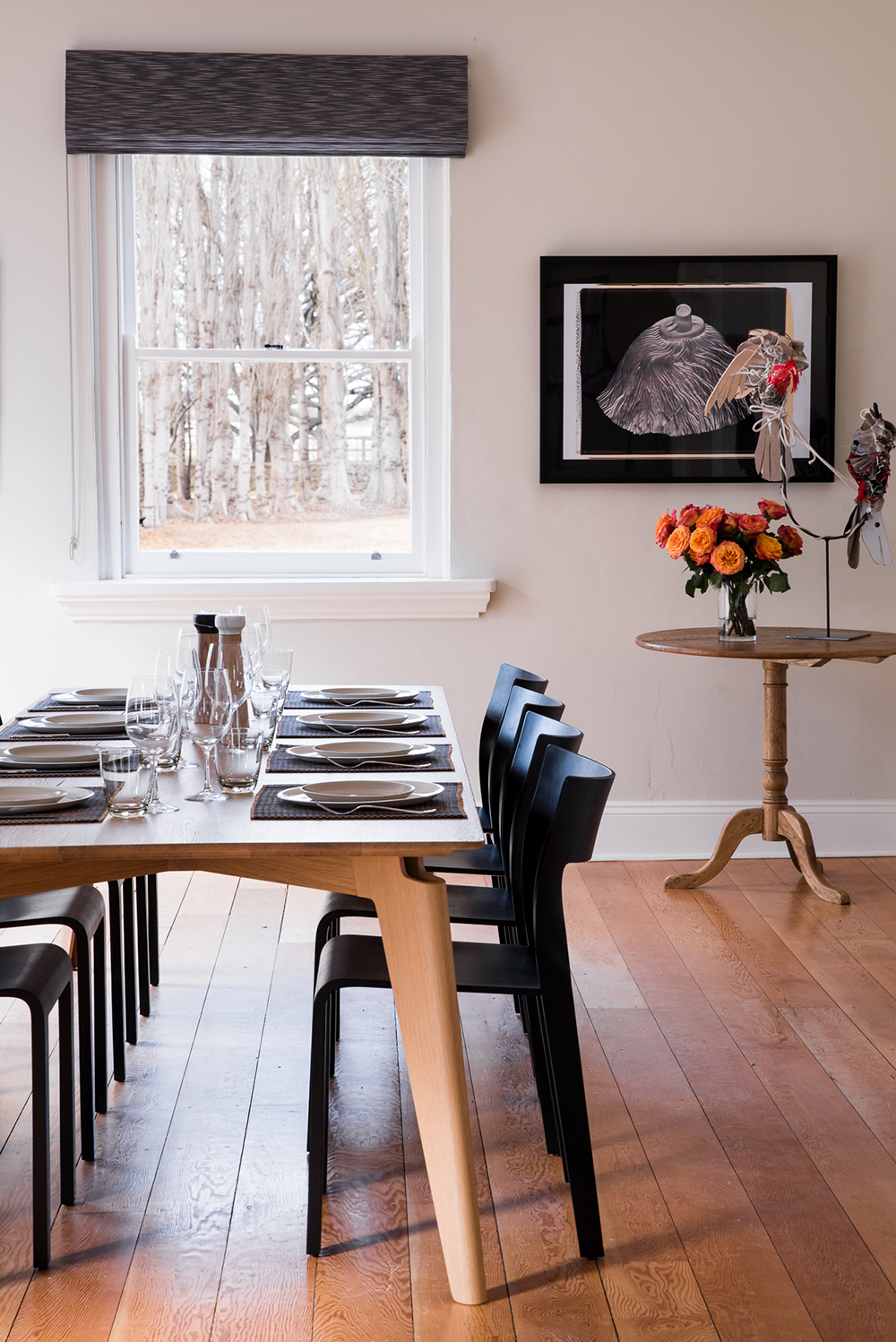 Luxurious and light-filled dining room with Mud Ceramics
