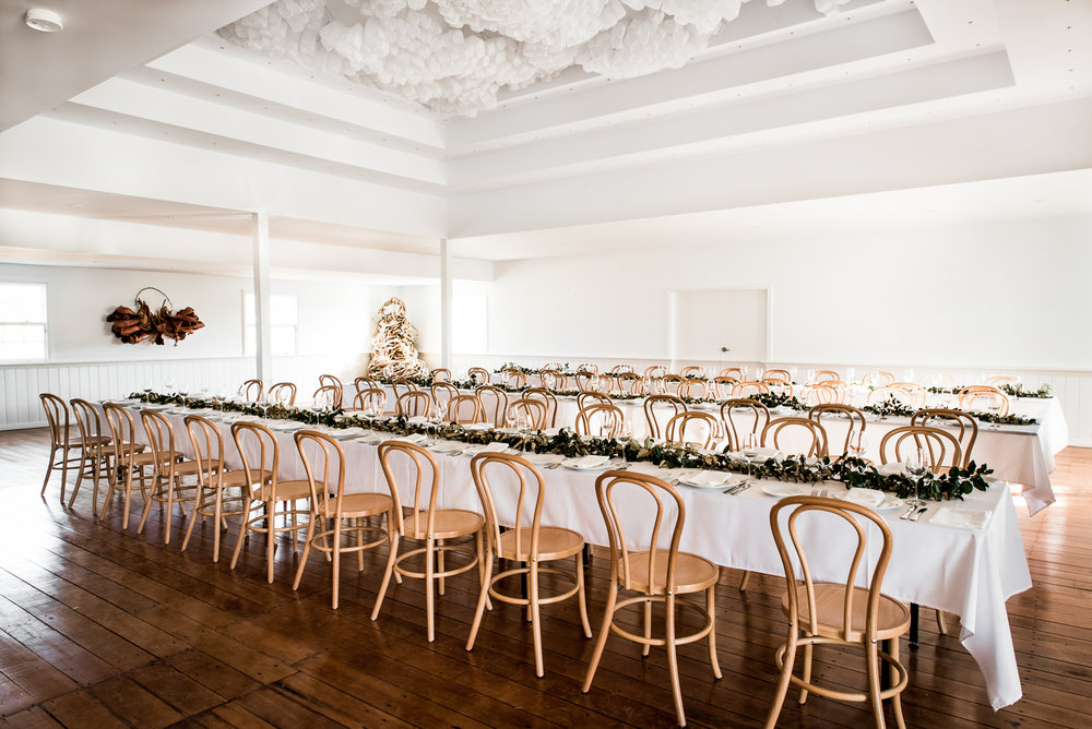 Mona Farm Weddings and Private Functions woolshed event set up and styling
