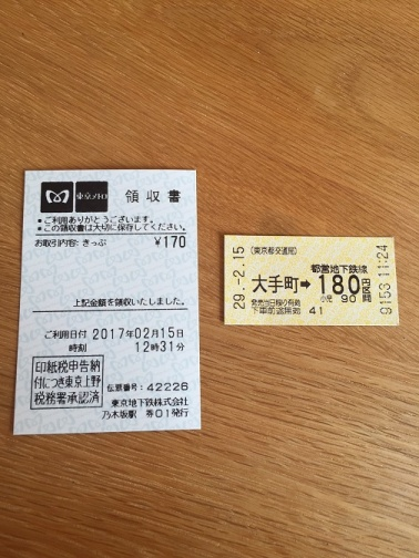 2枚の切符