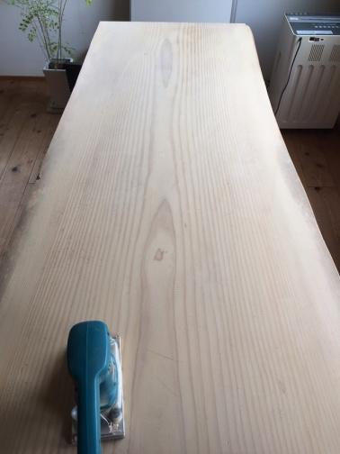 綺麗になったテーブル