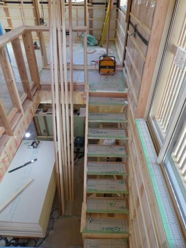 サンルームから見る階段
