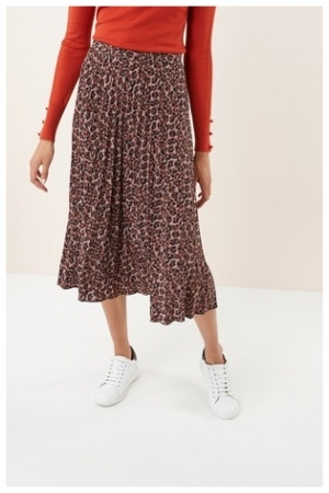Next Animal Print Pleated Skirt.jpg