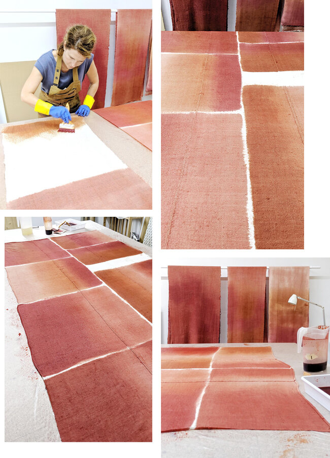 Espanyolet painting the fabric for Lottie Lifestyle.jpg