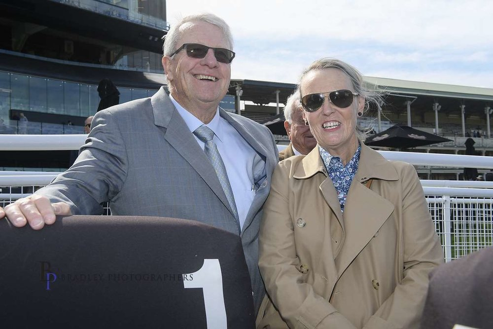 Image Courtesy of Bradley Photos - A very happy Bruce McHugh with Lisa Sheppard at Randwick