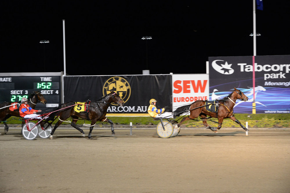 Image courtesy National Trotguide - David Morris wins on the Martin trained Double Event.